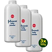 3x Johnson's Baby Powder - Baby Puder 500g (1,5kg)