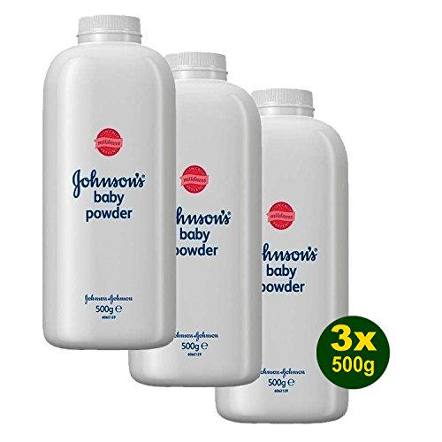 3x Johnson's Baby Powder - Baby Puder 500g (1,5kg)