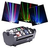 U`King Moving Head Stage Light DJ Spider Light LED 8x10W RGBW 4 Color