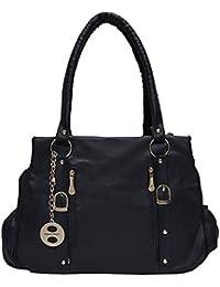 Angel & Rayon Ramona PU Leather Fancy Stylish Handbag For Womens, Handbag For Ladies And Handbag For Girls (Black)