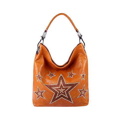 OBC Only-Beautiful-Couture, Borsa a spalla donna marrone cognac ca.: 42x35x14 cm (BxHxT)
