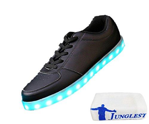 [Present:kleines Handtuch]JUNGLEST® Schwarz Schädel 7 Farbe Unisex LED-Beleuchtung Blink c42