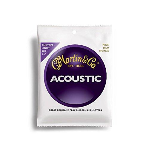 Martin Gitarrensaiten für Akustikgitarren (80/20, Bronzeumwicklung, Stärke Custom/Light 0.011-0.052)