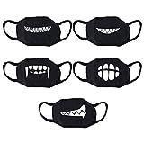 VORCOOL 5 Stücke Unisex Mundschutz Maske Baumwolle Anti-Staub Gesichtsmaske