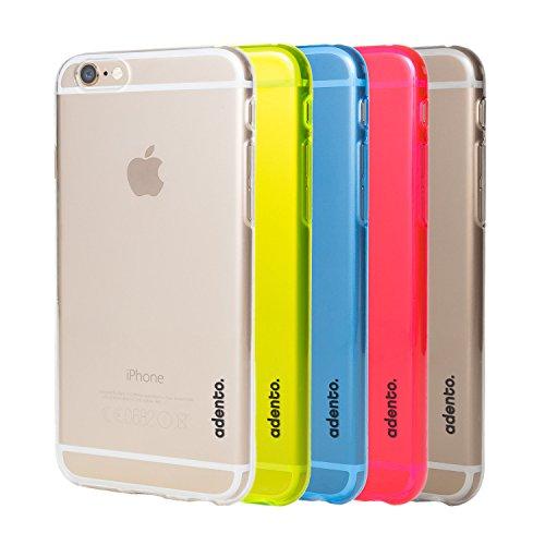 Adento iPhone 6 Plus Hülle, Hochwertiges Silikon iPhone 6 Plus Case, Gelb Rot