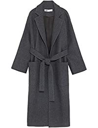 aeb30bfc27 Zara Women's Double-Breasted Belted Coat 2059/745 Grey