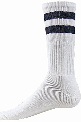Red Lion Schwarze Socken (Red Lion DOO Wop Classic Socken mit Zwei Streifen, Gr. S, Weiß/Schwarz)