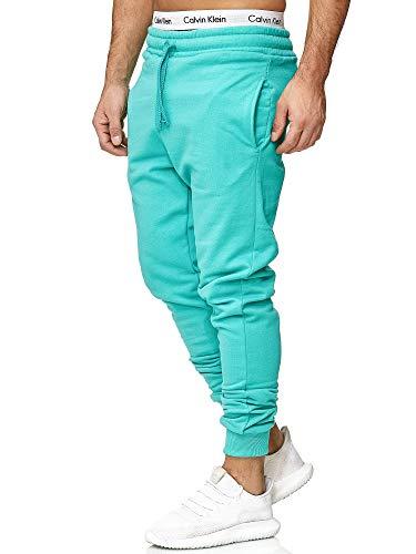 OneRedox Herren | Jogginghose | Trainingshose | Sport Fitness | Gym | Training | Slim Fit | Sweatpants Streifen | Jogging-Hose | Stripe Pants | Modell 5000C Mint Türkis M