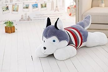 Chocozone Husky Dog Soft Toy Birthday Gift for Kids- Dog Lovers, 70cm