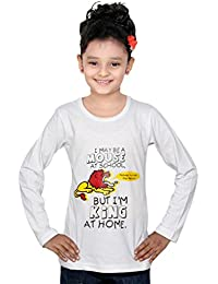 IndiWeaves Girls Cotton Full Sleeve Printed T-Shirt