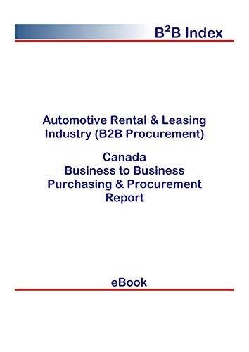 Automotive Rental & Leasing Industry (B2B Procurement) in Canada: B2B Purchasing + Procurement Values (English Edition)