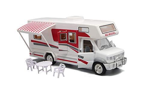 AOTE-D Auto RV Legierung Gesang Glow Ziehen Spielzeug Tisch Stuhl DIY Weiß Kinder Jungen Mädchen Geschenk 1:32