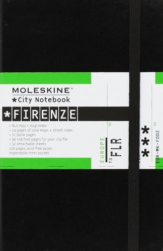 Moleskine City Notebook FLORENCE Couverture rigide noire 9 x 14 cm