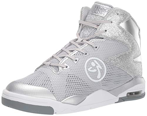 Zumba Air Classic Athletic High Top Shoes Dance Fitness Allenamento Sneakers da Donna, Argento (Silver Lining), 41 EU