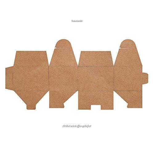 25 kleine WEISSE Geschenkschachtel Geschenkkarton Geschenk-box mini-Kartons Faltschachtel Größe 8 x 6,5 x 5,5 cm Verpackung Tischdeko Gastgeschenk Mitgebsel give-away kleine
