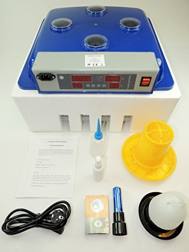 Campo24 S60 Motorbrüter autom. Wendung Brutapparat, Inkubator, für bis zu 60 Eier Inkubator