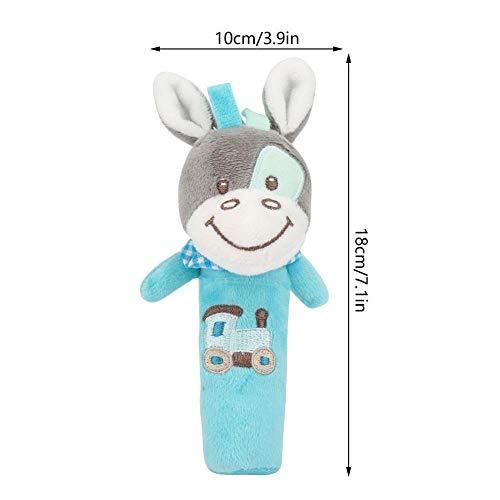 Baby Rassel Spielzeug Neugeborene Krippe Puppe Weiche Baby Niedlichen Cartoon Tier Stil Baby Säuglings Rassel Gefüllte Plüsch Spielzeug für Kinder(Esel)