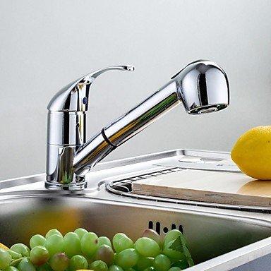 DZ American Standard Küchenarmatur Zeitgenössisch Mit ausziehbarer Brause Messing Chrom (American Standard Küchenarmatur)