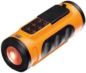 Trevi MPS1650LED Lecteur MP3 rechargeable et étanche avec LED lampe - orange