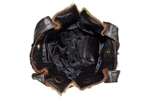 Zerimar Leder-Umhängetasche für Damen Große Umhängetasche aus weichem Leder für Frau Schultertasche mit großer Kapazität Weiche Leder tasche für damen aus leder praktisch echt leder Braun5