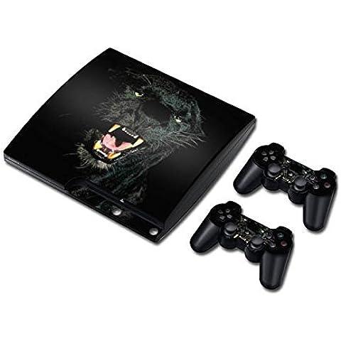 Sony PS3 Playstation 3 Slim Skin Design Foils Sticker Set - Panther Motivo