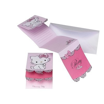 Partner Jouet - A1102391 - Décoration de Fête - 6 Cartes Invitation - Charmmy Kitty