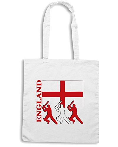 T-Shirtshock - Borsa Shopping OLDENG00058 england cricket Bianco