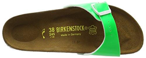 Birkenstock - Madrid Birko-flor, Ciabatte Donna Verde (vert (vernis Vert Fluo))