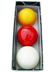 Juego bolas billar carambolas tricolor 57. 2 mm