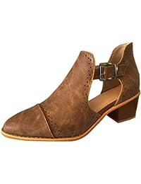 bfe21b3df7a30 BaZhaHei Stivaletto Donna con Tacco Alto Eleganti Appuntito Slip-On Single  Shoes Selvaggio Sandali Scarpe