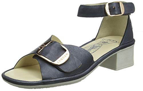 Fly London Damen Eken018fly Knöchelriemchen Sandalen, Blau (Anthracite 002), 40 EU -