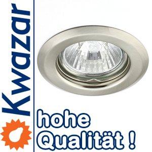 K-15 Einbaustrahler Einbauspot GU5,3 MR16 12V Farbe nickel matt gebürstet. Ideal für LED und Halogen. von Kwazar Leuchte bei Lampenhans.de