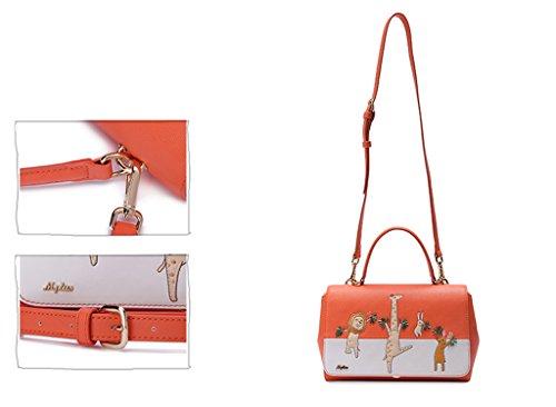 MADE4U - Borse a spalla donna Orange