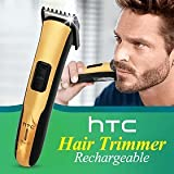 Rechargeable Beard Trimmer , Hair Clipper With Stainless Steel Blades With Special Grip Body 205