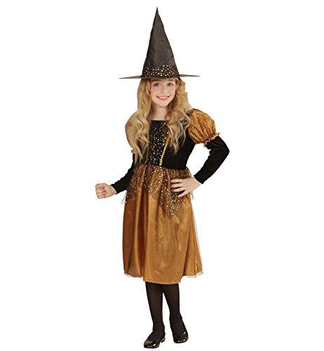 Widmann 00207 - Kinderkostüm Hexe, Kleid und Hut, Gröߟe 140