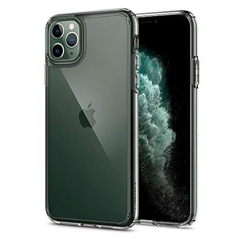 Spigen Coque iPhone 11 Pro Max [Ultra Hybrid] Bumper en TPU Souple, Dos en PC Rigide et Transparent, Protection - [Air Cushion] Coque Compatible avec iPhone Pro Max (2019)