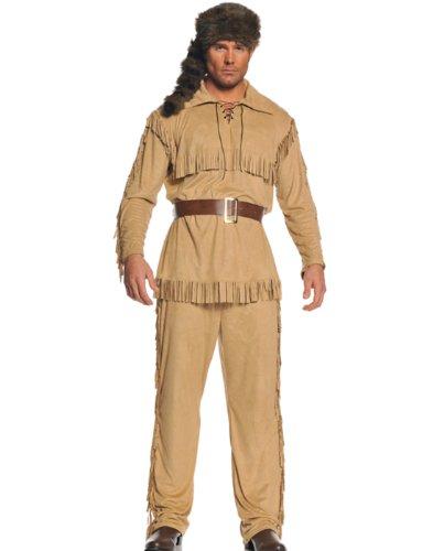 199768 Frontier Man Kost-m - Braun - One-Size (Frontier Kostüm)