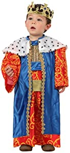 Atosa-12780 Atosa-12780-Disfraz Rey Mago niño bebé-Talla Color Surtido-Navidad, Multicolor, 0 a 6 meses (12780