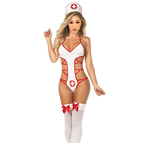 MagiDeal Krankenschwester Kostüm Kleid Pflegerin Krankenhaus Fasching Karneval (Krankenhaus Kleid Kostüm)