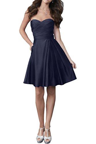 Victory Bridal 2016 Neu Einfach Geraft Cocktailkleider Partykleider Abschlussballkleider Mini Oberhalb von knie Kurz Navy Blau