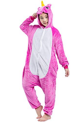 (Kinder Pyjama Tier Fliegendes Pferd Cartoonstil Kigurumi Einhorn Cosplay Animal Plüsch für Unisex)