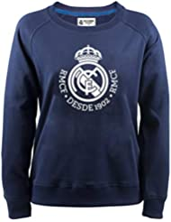 fe5df176f914a Sudadera Oficial Real Madrid Mujer Lady Azul Navy 2018 2019 en blisters  Blancos
