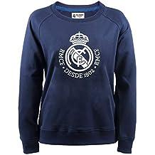 Sudadera Oficial Real Madrid Mujer Lady Azul Navy 2018 2019 en blisters  Blancos fbcc00162ce5c