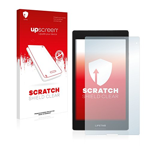 upscreen Scratch Shield Schutzfolie für Medion Lifetab S8312 (MD98989) - Kristallklar, Kratzschutz, Anti-Fingerprint