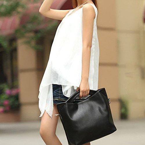 YYW Leather Handbags, Borsa a zainetto donna Brown