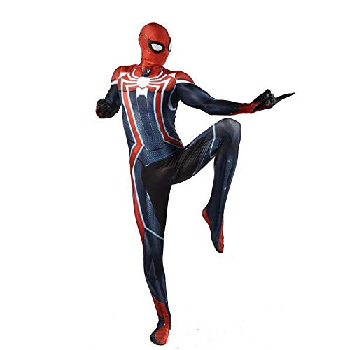 WSX Cosplay Kleidung 3D Digitaldruck Anime Kostüm Super Begrenzte Schlacht Anzug Spiderman Cosplay Strumpfhosen Halloween Cosplay Kostüm Kinder Erwachsene Kostüm Cosplay Kleidung,Children-S (Einfach Männliche Halloween-kostüme Super)