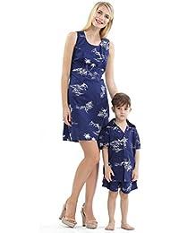 639f7bd23 Hawaii Hangover Conjunto de Luau Hawaiano de Madre e Hijo Vestido de Mujer  Pantalones Cortos Boy