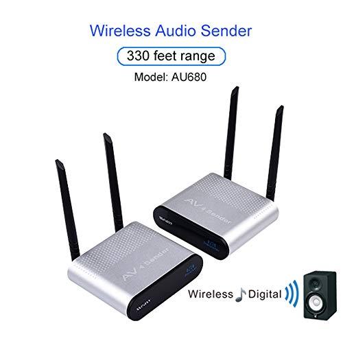 Wireless Wall Transmitter (ZqiroLt AU680 330 Feet Range Wall Through Wireless Audio Sender Transmitter Receiver Set)
