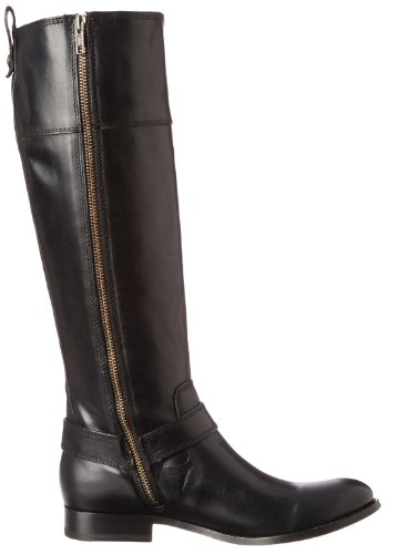 Frye Women's Melissa Harness Inside Zip Black Soft Vintage Leather Boot 6.5 B - Medium Black Smooth Vintage Leather-76927