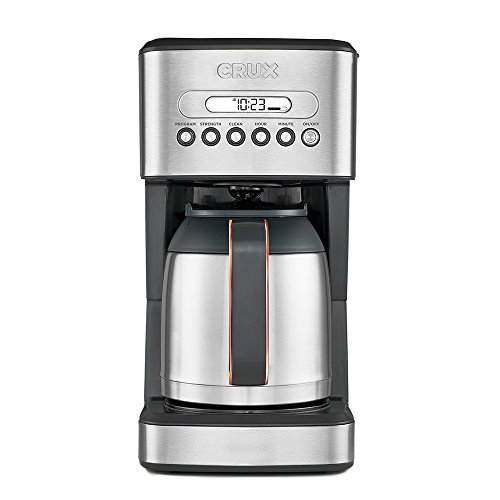 CRUX Instant Ground Electric Hot Coffee Maker Machine Kit – Pre-Programmable Settings – 10 Cups, Self Cleaning – Auto…